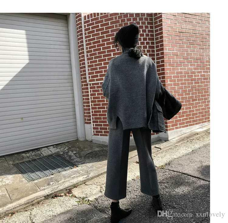 dd8dd8855a8b Languid Lazy Wind Turtleneck Pullover Female Loose 2018 Autumn Winter New  Korean Edition Student Bottom Knitwear Online with $95.81/Piece on  Xxnlovely's ...