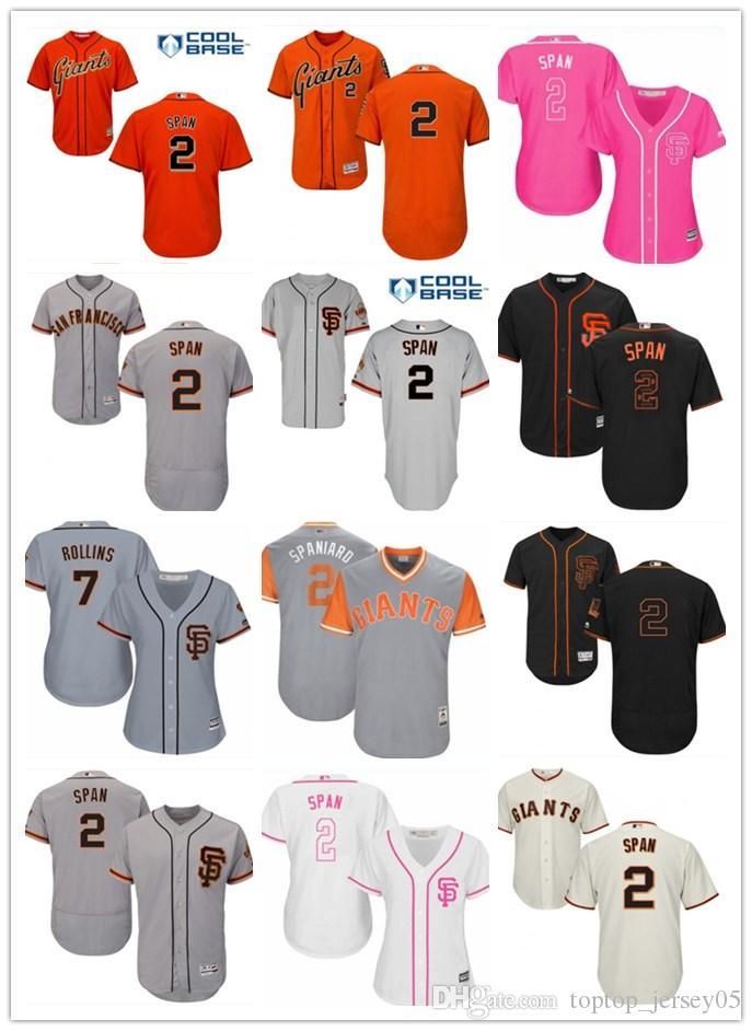 newest c5c22 9a2a6 2018 top San Francisco Giants Jerseys #2 Denard Span Jerseys  men#WOMEN#YOUTH#Men's Baseball Jersey Majestic Stitched Professional  sportswear