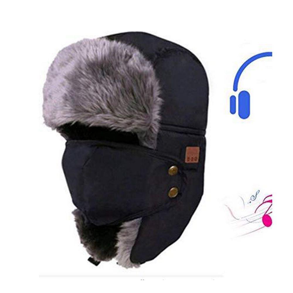653f493da8 2019 Snow Hat Cap Hats Earflaps Fur Caps Snow Cap Bluetooth Warm DE From  Huazu