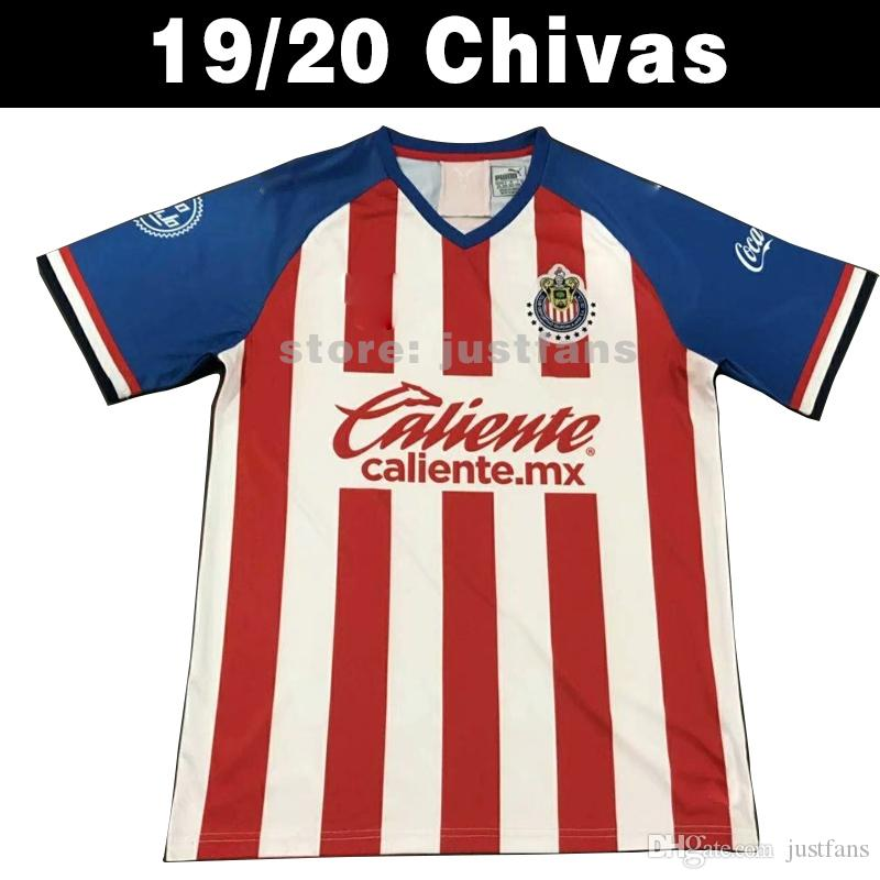 the best attitude 089da de0e2 NEW 2019 2020 LIGA MX Club Chivas de Guadalajara Soccer Jersey 19/20 Camisa  de Futebol Home Third Jerseys A.PULIDO Football Shirts