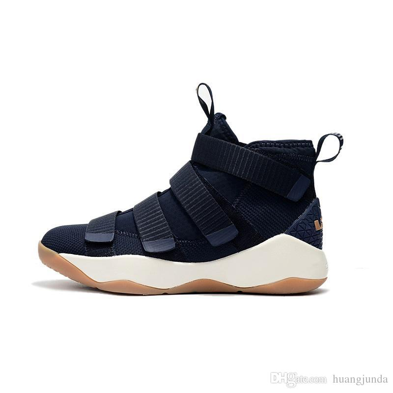 the best attitude 9b3ae 26f6a Mens lebron soldier 11 basketball shoes Green Purple Wheat Red White Grey  Boys Girls Kids high tops lebrons soldiers sneakers boots with box
