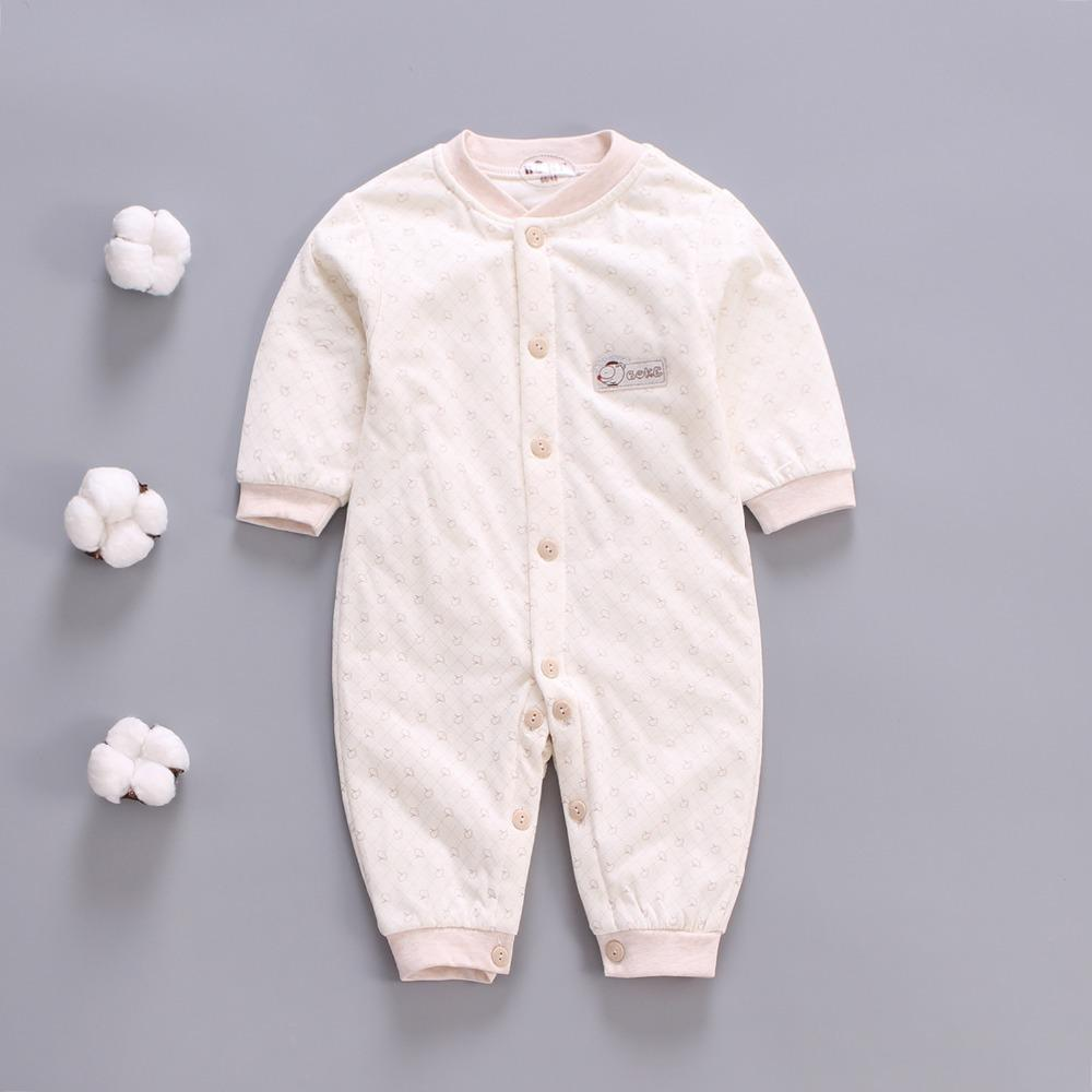 162cce115 2019 Newborn Baby Winter Rompers Toddler Warm Cotton Long Sleeve For ...