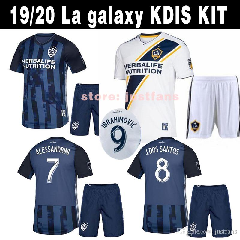 competitive price d6652 14e88 LA Galaxy kids kit 2019 home Soccer jersey 18 19 Los Angeles Camisa  Ibrahimovic ALESSNDRINI J.DOS SANTOS child kit football shirt uniforms
