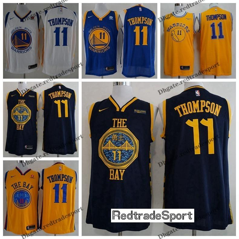 e8b5d711fc28 2019 2019 Earned  11 Golden Klay States Thompson Warriors Edition  Basketball Jerseys Klay City Thompson Edition Stitched Shirts S XXL From  Redtradesport