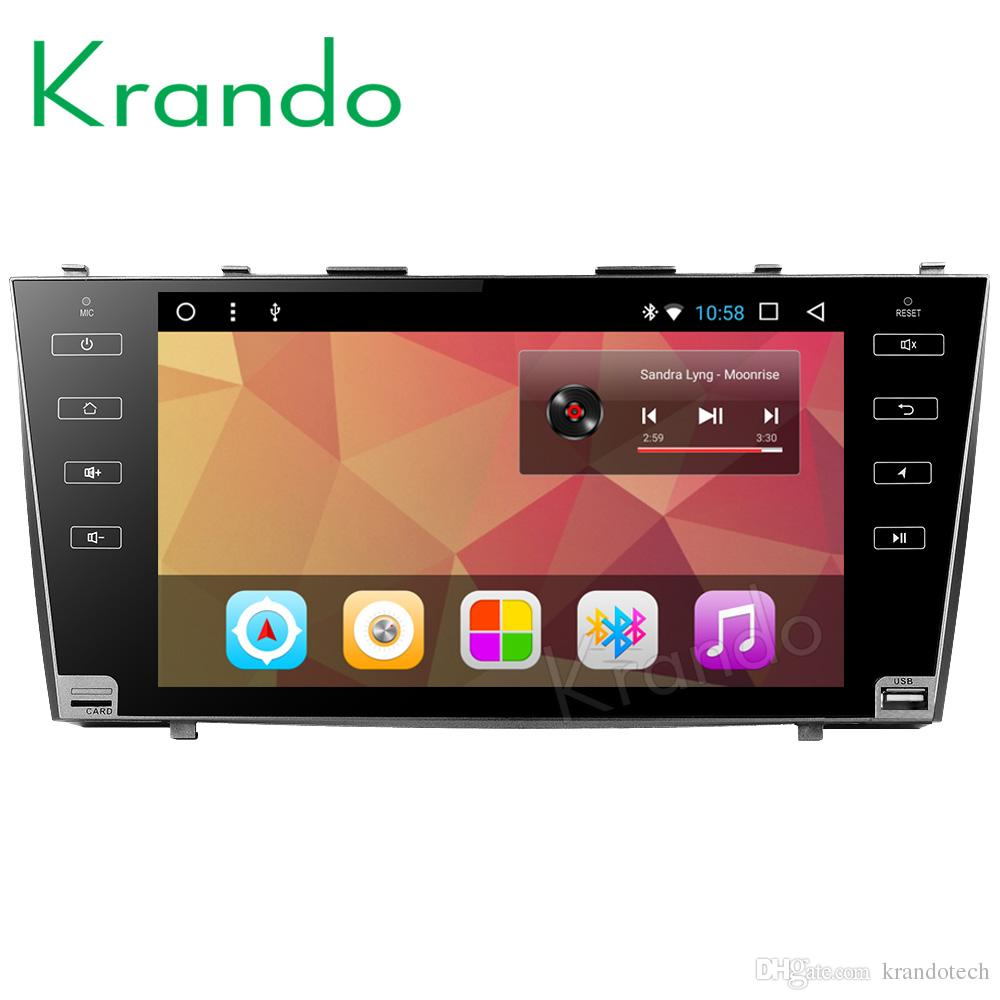 "Krando Android 8.1 9"" IPS Big Screen Full touch car Multimedia system radio player for TOYOTA CAMRY 2007-2011 video gps BT wifi car dvd"