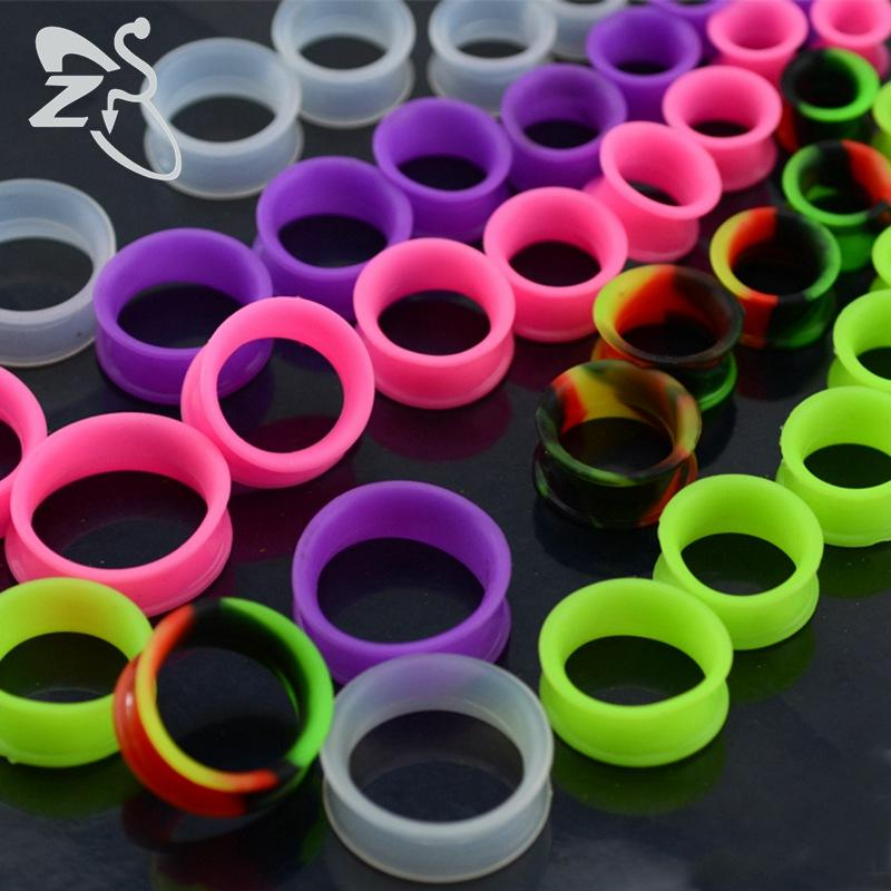 9 Paire oreille en silicone flexible mince Plugs Tunnel Double Flared Expander Jauges Piercing oreille Tunnels Expander corps Bijoux Piercing