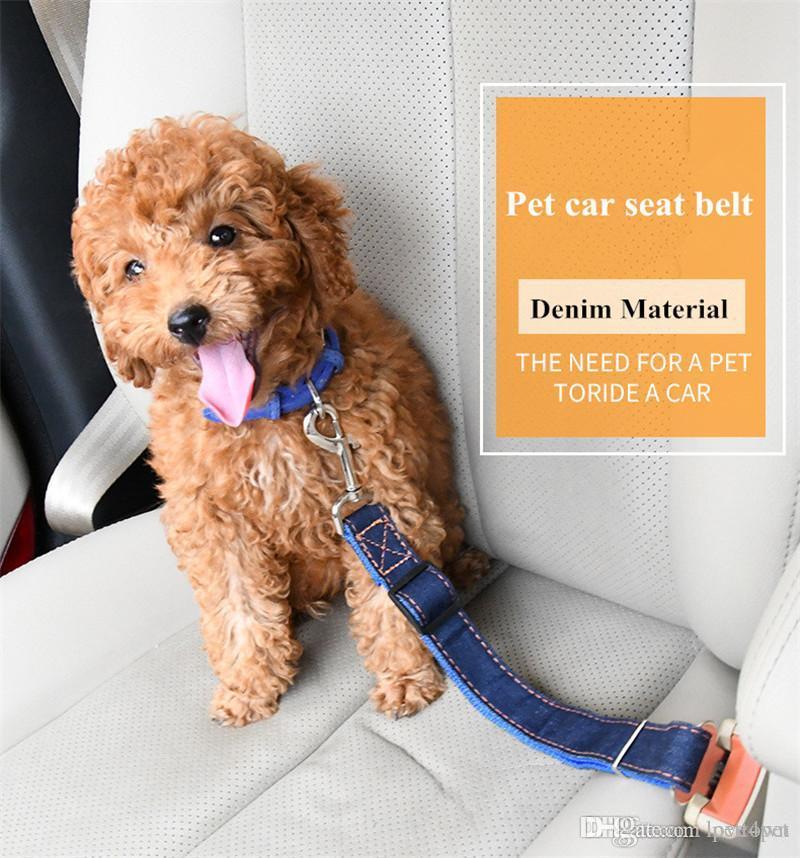 Pet Seat Belt >> B50 Jean Dog Car Seat Belts Denim Pet Seat Belt Nylon Dog Traction Rope Keep Pet S Safety In Ca