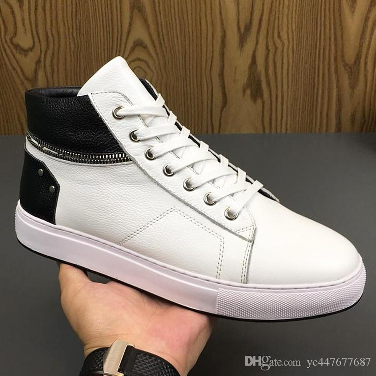 f68ce9ed9f12 2019 2019 Men S High Shoes Sneakers Boots German Luxury Fashion Designer  Outdoor Sports Shoes Casual Leather Sneakers Qb From Ye447677687