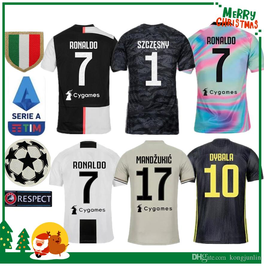 low priced 95c40 9ed87 2019 Juventus Ronaldo DYBALA PJANIC COSTA soccer jersey 19 20 Italy  MANDZUKIC BUFFON home man woman kids boy kit JUVE sports football shirt