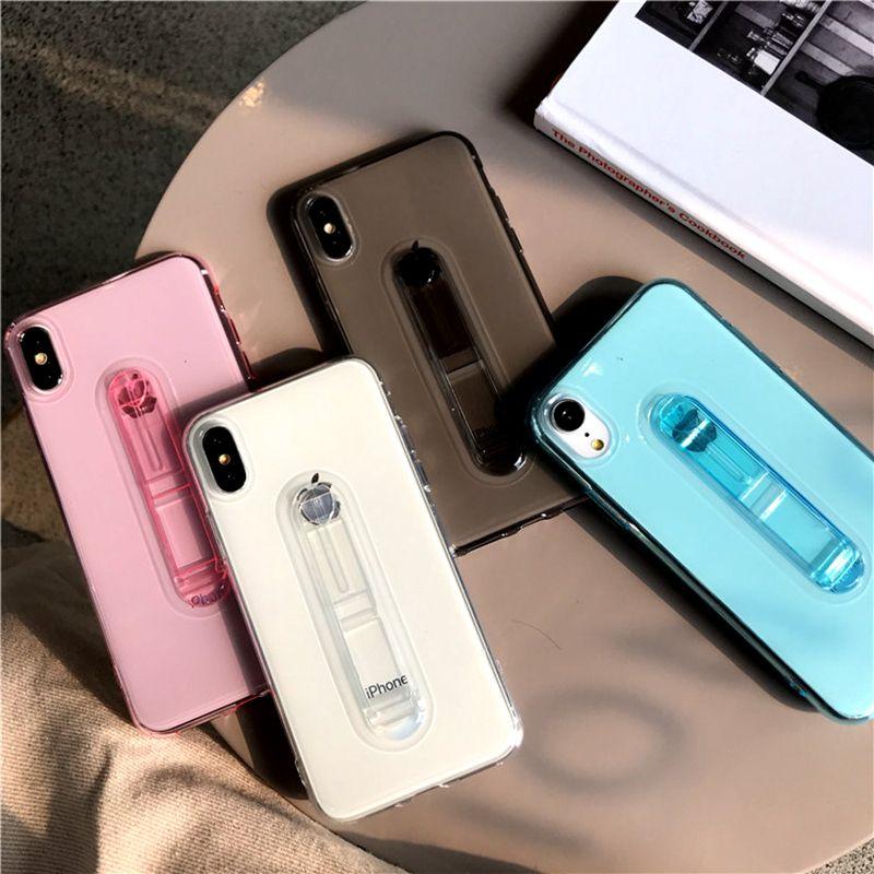 1a2fb37fcc0 Fundas Para Movil Nuevo Para Iphone XR XS MAX X 6S 7 8 Más Funda Para  Teléfono Celular Suave De TPU, Funda Delgada Con Soporte Para Soporte De  Pie, ...