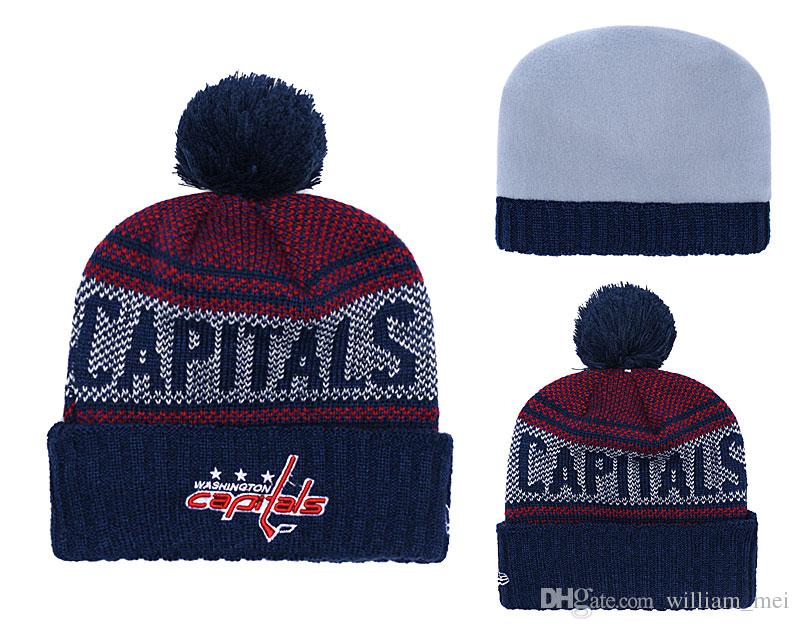 7d3e659417e 2019 WASHINGTON CAPITALS Winter Beanies Knitted America Sports All Teams  Baseball Football Basketball Beanies Women Men Fashion Winter Hat From  William mei