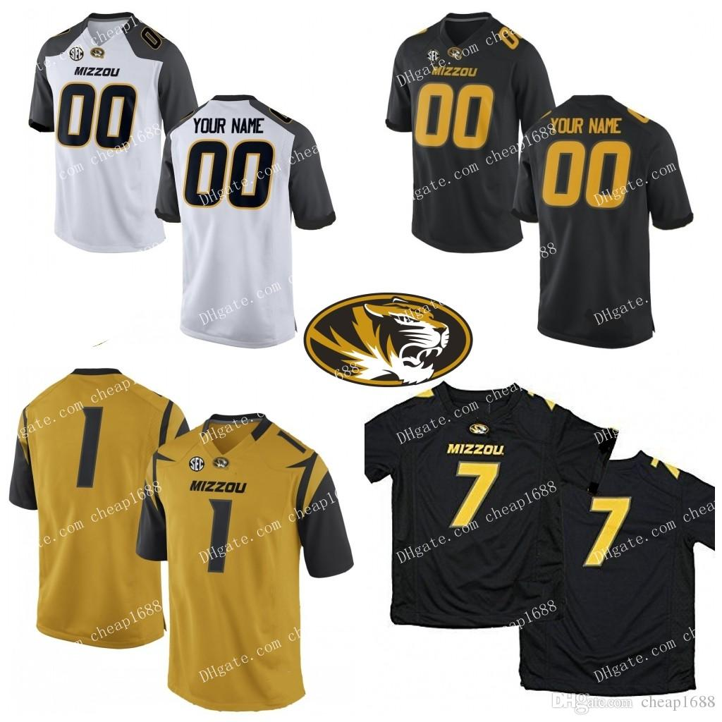 wholesale dealer 54e6c 2de7f Custom Mizzou Missouri Tigers 7 Kelly Bryant College Football 3 Drew Lock  #5 Taylor Powell 34 Larry Rountree Stitched Any Name Number Jersey