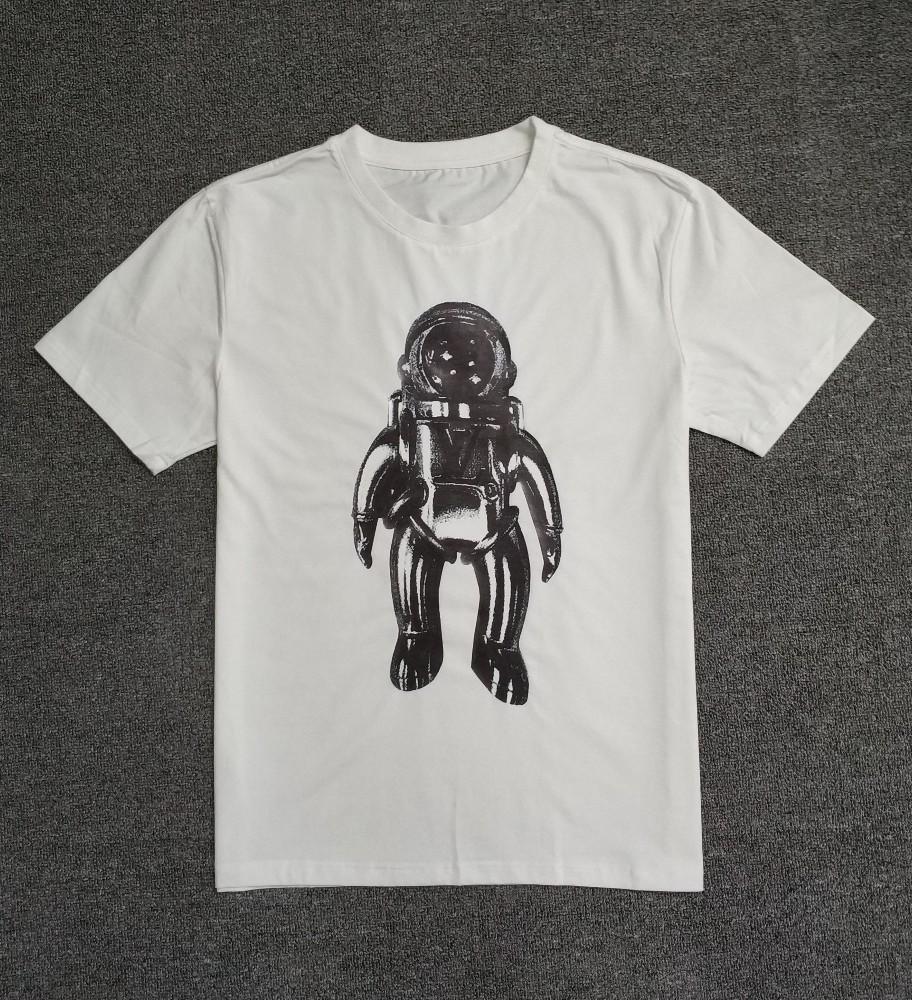 3d237ebef Compre Lou Verano Nuevos Hombres Camiseta Impresa Cómoda Y Elegante Guapo  Con Tela De Algodón Estampado Sky Walk Estampado A  16.45 Del Zjy520