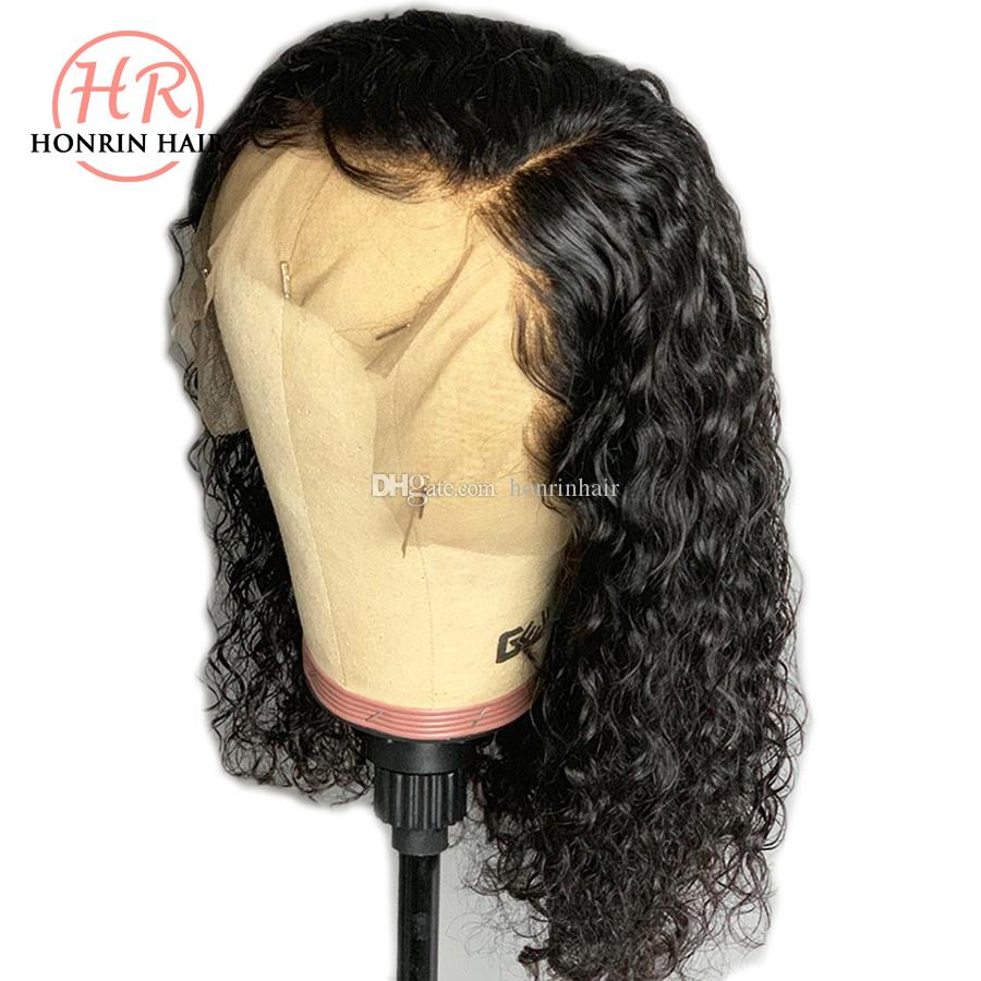Lace Front Wig Short Bob Curly Full Lace Wig Deep Curly Brazilian Virgin Human Hair Pre Plucked Hairline 150% Density With Baby Hair