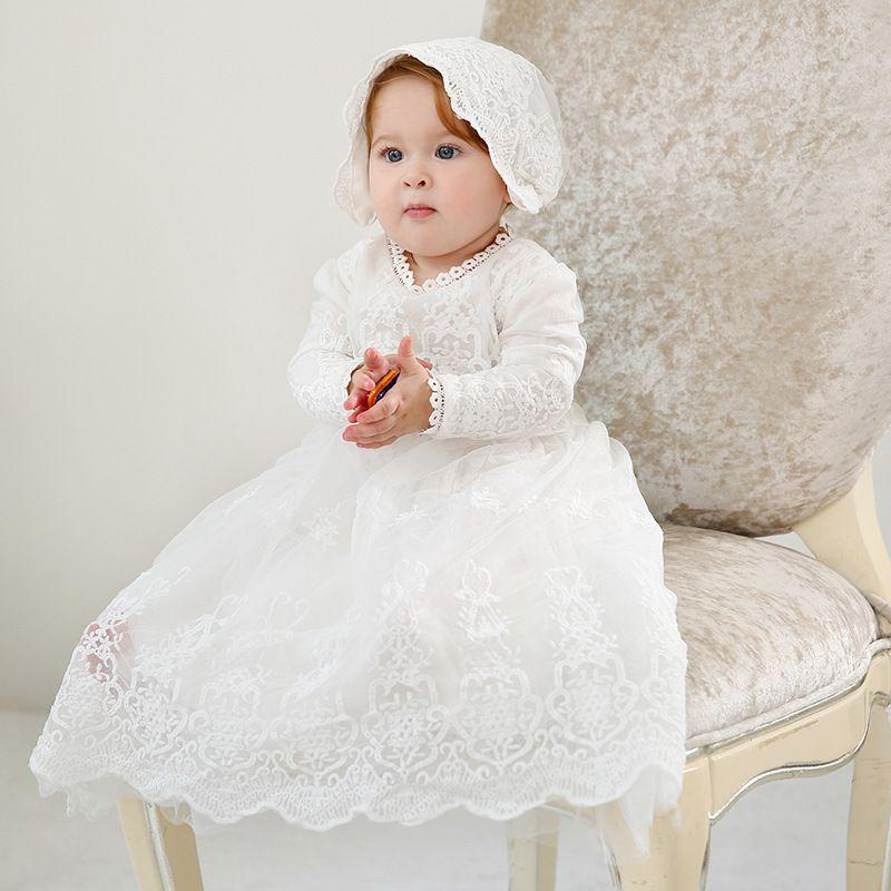 Baby Taufe Kleider Mädchen Lange Tüll Spitze Geburtstag Baby Kleid Weihnachten Kleinkind Kleid 1 Jahr Mädchen Taufe Kleid