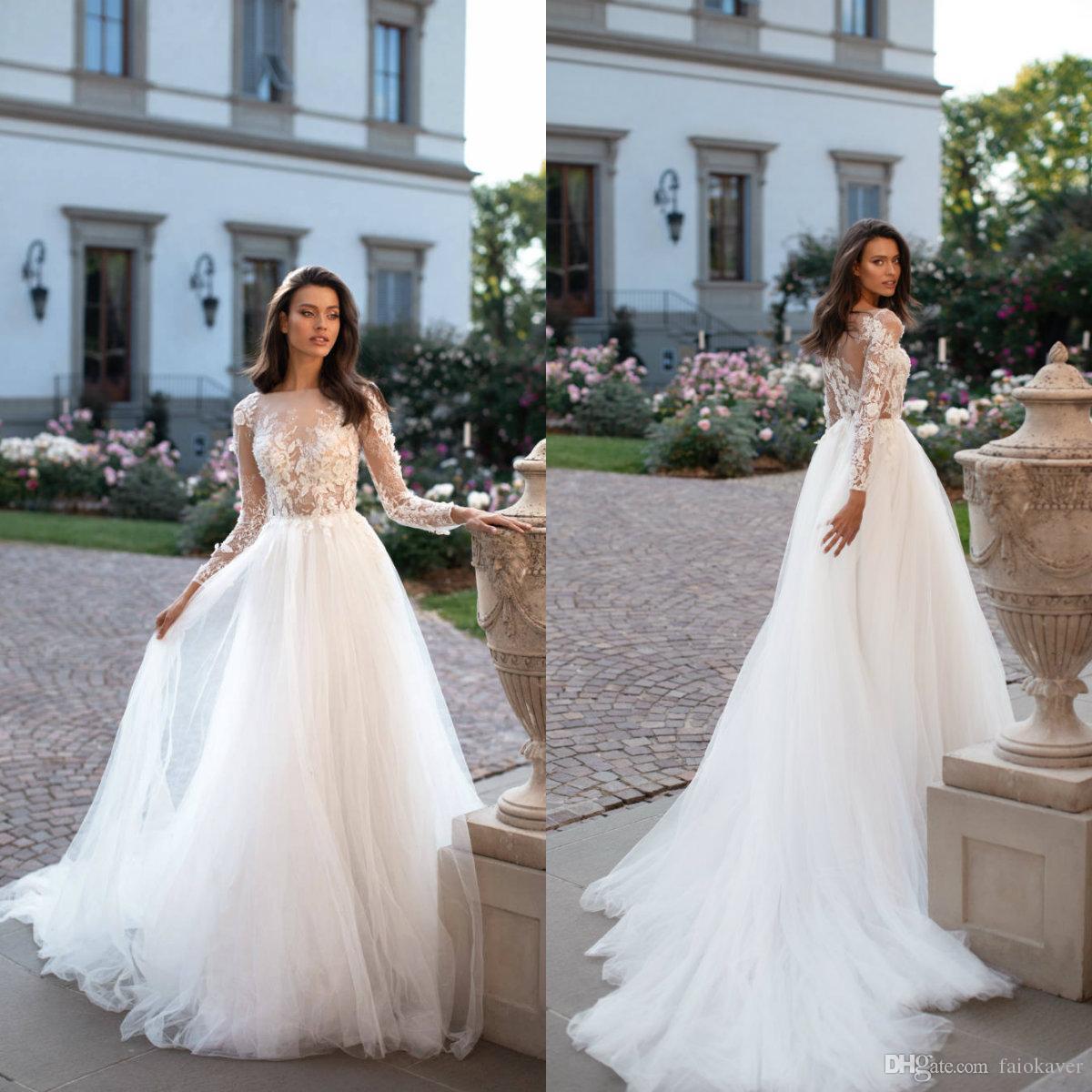 Discount Milla Nova Bohemia Wedding Dresses 2019 Appliqued