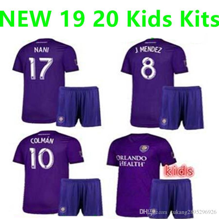 27380018474 2019 New 2019 2020 Orlando City Kids Kit Home Soccer Jersey KAKA 19 20 #10  COLMAN #14 DWYER BOYS J.MENDEZ PATINO Football Uniforms From  Xukang2895296926, ...