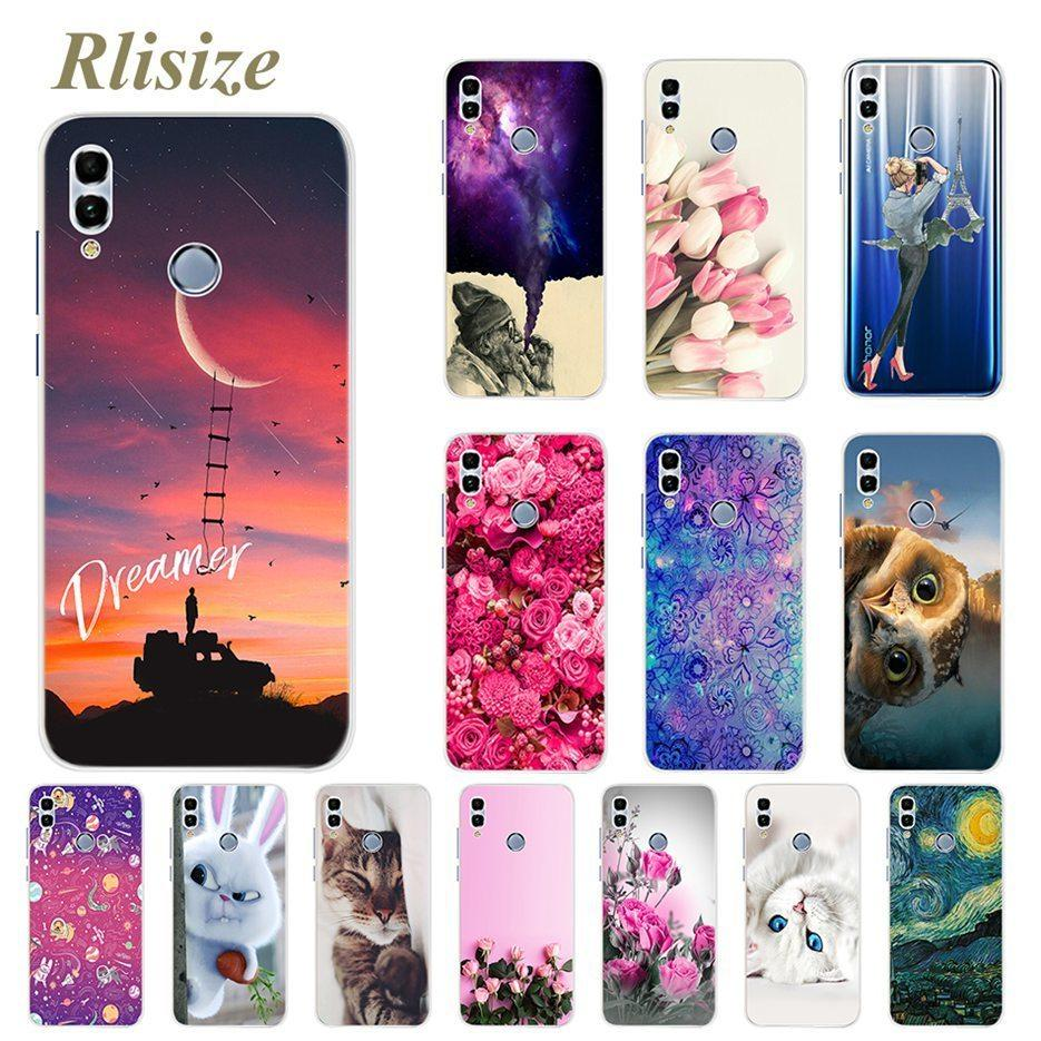 new concept d5b54 3a5c2 For Coque Huawei Honor 10 Lite Case 6.21 Soft Silicone Back Cover FOR  Huawei Honor 10 Lite 10Lite Funda Cute Cover Phone Case