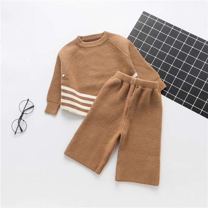 bb769478f 2019 Good Quality Girls Baby Sweater Sets Autumn Knitted Wool Long ...