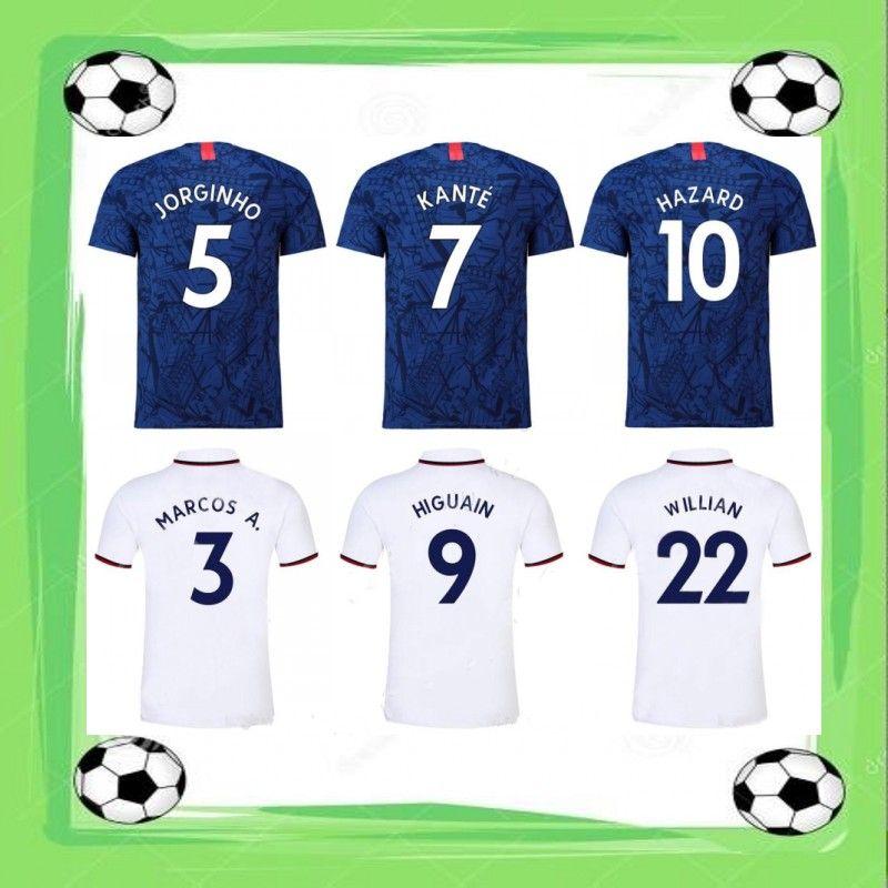 online store 8127c a7786 2019/20 KANTE HAZARD Soccer Jersey 2020 PEDRO GIROUD WILLIAN Soccer Uniform  Mens MARCOS A. JORGINHO HUDSON-ODOI Football Shirt