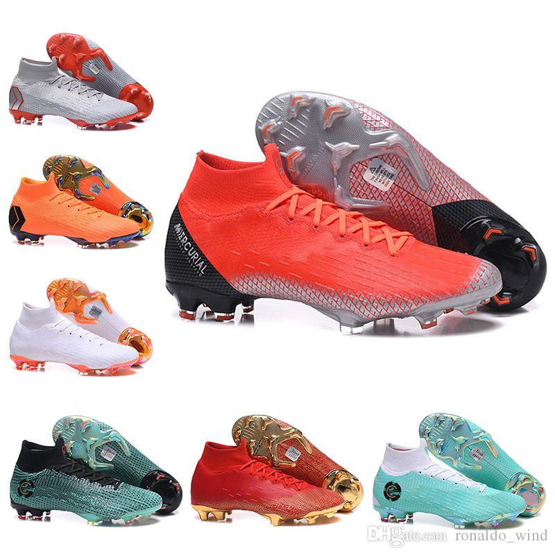 Kids High Ankle Football Boots Youth Children CR7 Mercurial Superfly VI 360  Elite Neymar FG Soccer Shoes Mens Womens ACC Soccer Cleats Comfort Shoes ... 00967573f20