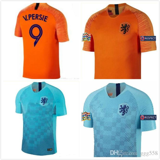 9928d3a49 2019 1 2018 19 Nederland Soccer Jersey Netherlands Home Away Orange MEMPHIS  JERSEY ROBBEN 18 19 Thai Quality V.Persie Dutch Football Shirts From  Ggg558, ...