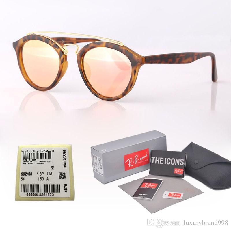 94e98d3ecc Compre Diseño De Marca Gafas De Sol Hombres Mujeres Gatsby Retro Vintage  Gafas Lentes Con Montura De Cristal De Montura Redonda Gafas Con Caja Y  Etiqueta ...