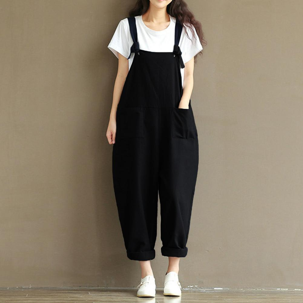 dccd632b99b 2019 5XL Plus Size Bodysuit 2019 Casual Rompers Womens Jumpsuits Sleeveless  Backless Casual Loose Solid Overalls Oversized Playsuits From Jincaile02