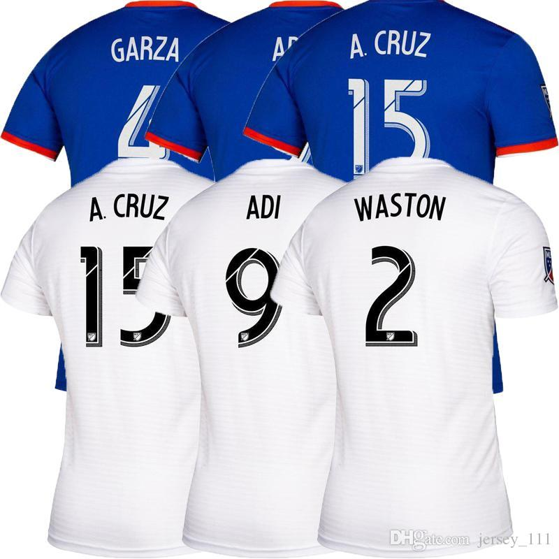 top 2019 2020 Cincinnati Soccer Jersey Home Away Football Top MLS 19/20 GARZA WASTON BERTONE ADI Football Camicie Mens Outdoor Sports Wear