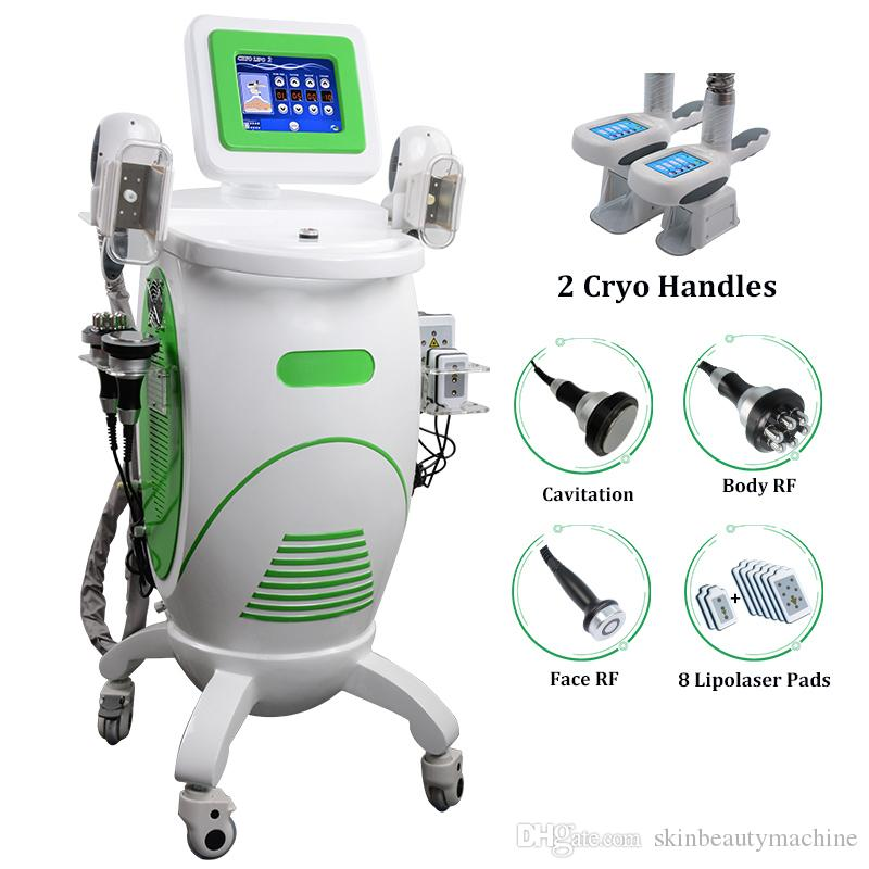2019 New Cryotherapy Cryo Machine Freeze Fat Body Weight Loss 5 IN 1 Cryolipolysis Lipo laser Cavitation Cryolipolyse Slimming Equipment