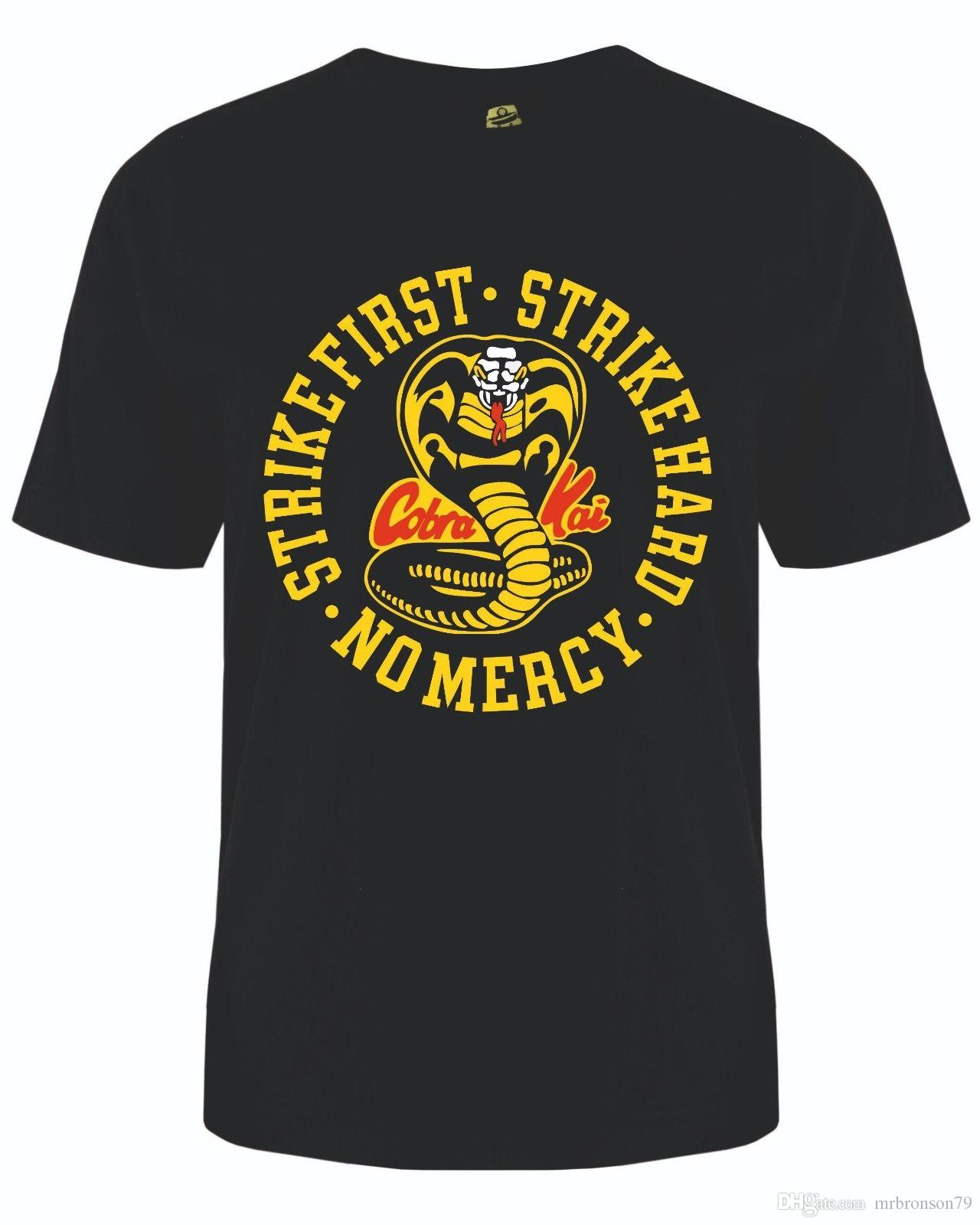 b9876dfde Cobra Kai T Shirt Or Vest Karate Kid Icon Kids & Adult Sizes T Shirt With  Design It T Shirt Design From Mrbronson79, $10.86| DHgate.Com