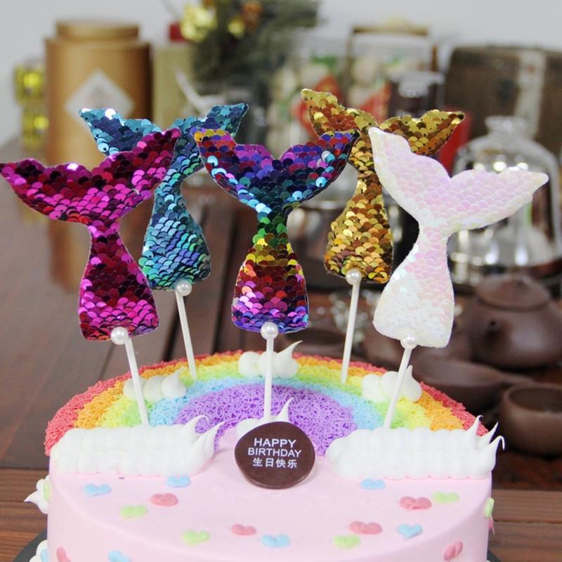 Mermaid Party Wedding Happy Birthday Decrations Girl Creative Cake Decoration Online With 458 Piece On
