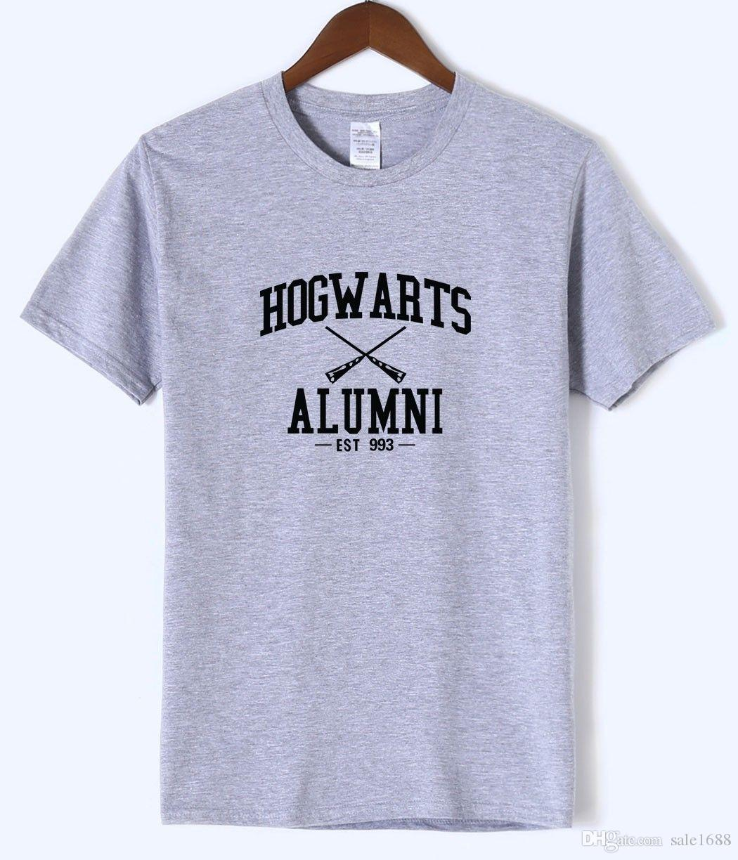 Hogwarts Inspired Magic Alumni Print Adult Tshirt 2018 Summer Hot