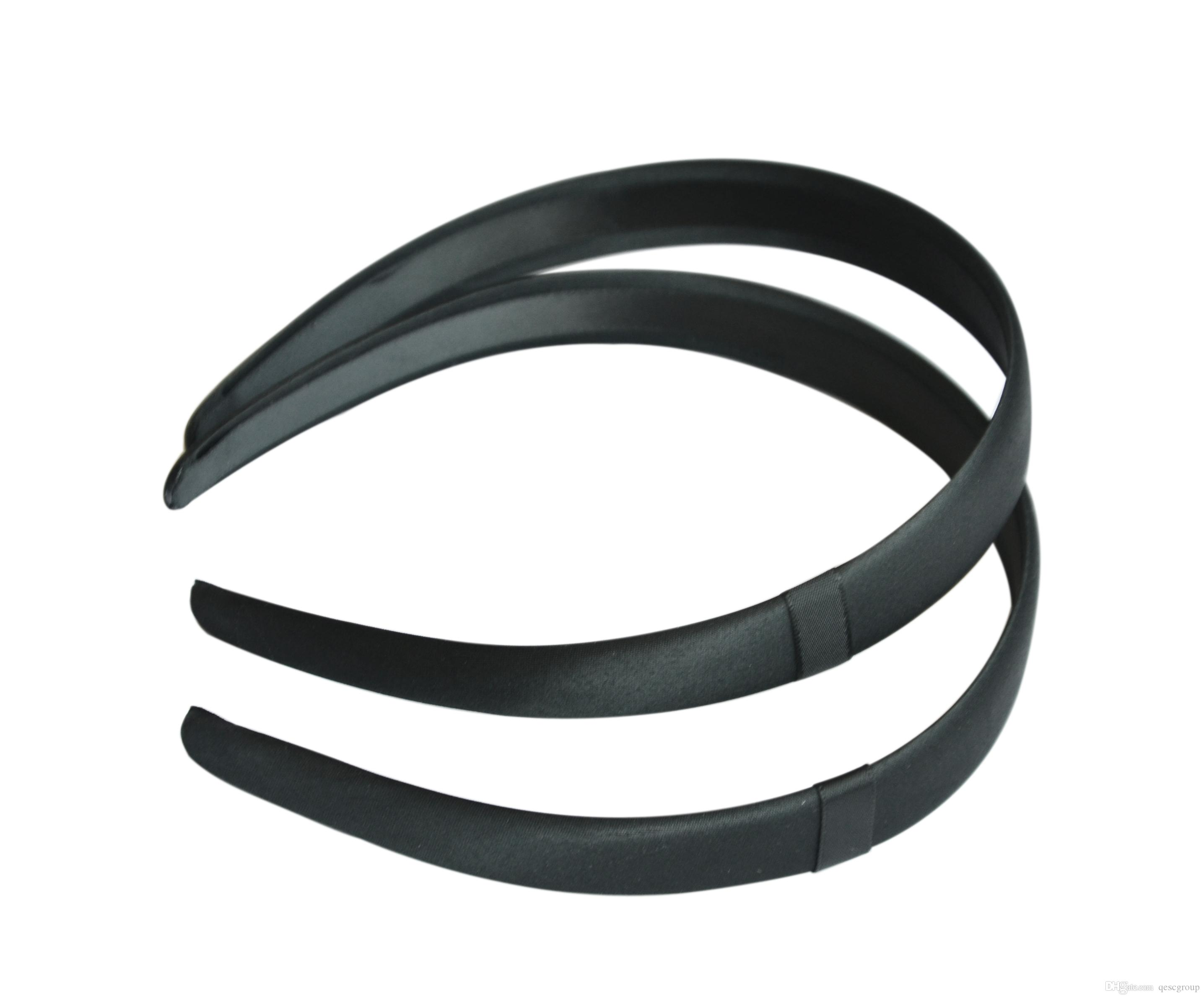 ! Black Color 2cm Satin Headband With Satin Loop c8d2a00f406
