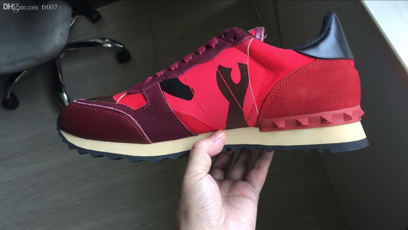Vera pelle scarpe piatte per le donne degli uomini del nastro nero verde rosa striscia di cuoio a piedi scarpe casual modo di formato delle scarpe da tennis 36-46 rivetto