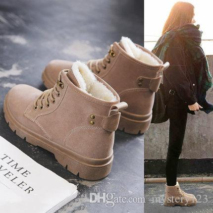 7b7a603b9e3 Classic Women's Snow Boots Fashion Winter Short Boots fashion snow shoes  Velvet shoes women ankle boots
