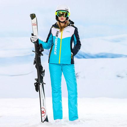 6ce915fac6 2019 High Experience Women Ski Sets Mountain Skiing Outdoor Winter Warm  Sport Suits Ladies Snow Clothing Ski Jacket Female Suit From Jumeiluo