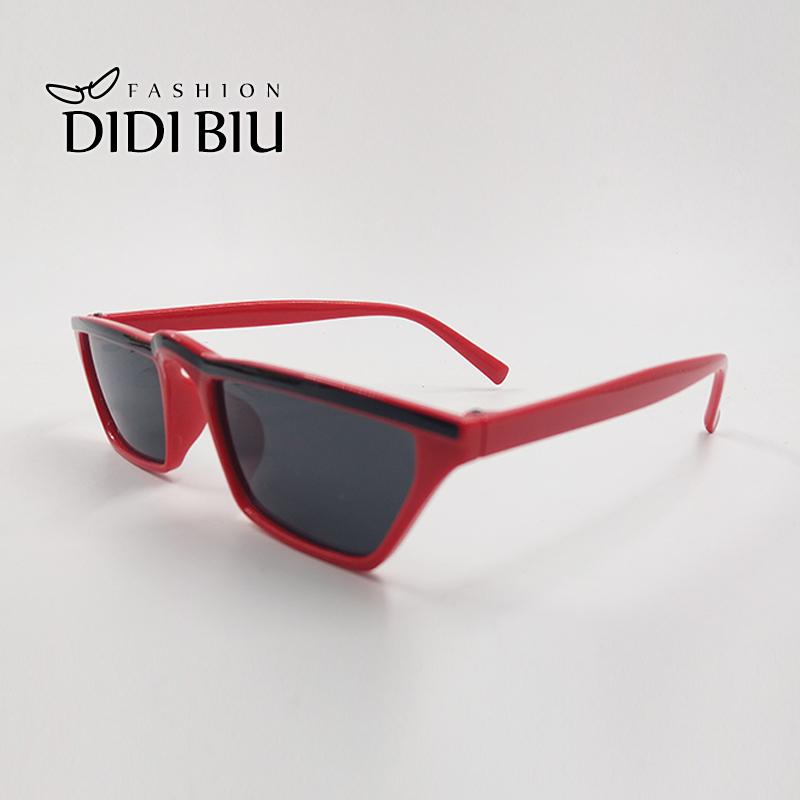 b3861ccd8cf Trend Red Black Flat Top Sunglasses Women Men Brand Designer Plastic Frame  One Piece Shade Glasses Fashion Decoration Goggle 003 Tifosi Sunglasses  Cheap ...