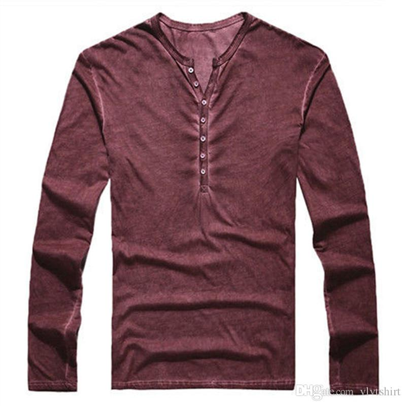 Mens Designer T Shirt Long Sleeve Tee Solid Color T Shirts Retail Tees Man Clothing Shirts Streetwear S-3XL Casual Tshirt 2019