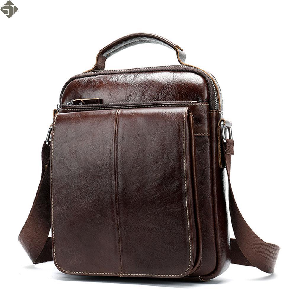 186b1a4679 Sacs à bandoulière en cuir véritable pour hommes à la mode Taille Sling  Pack Petite Pochette