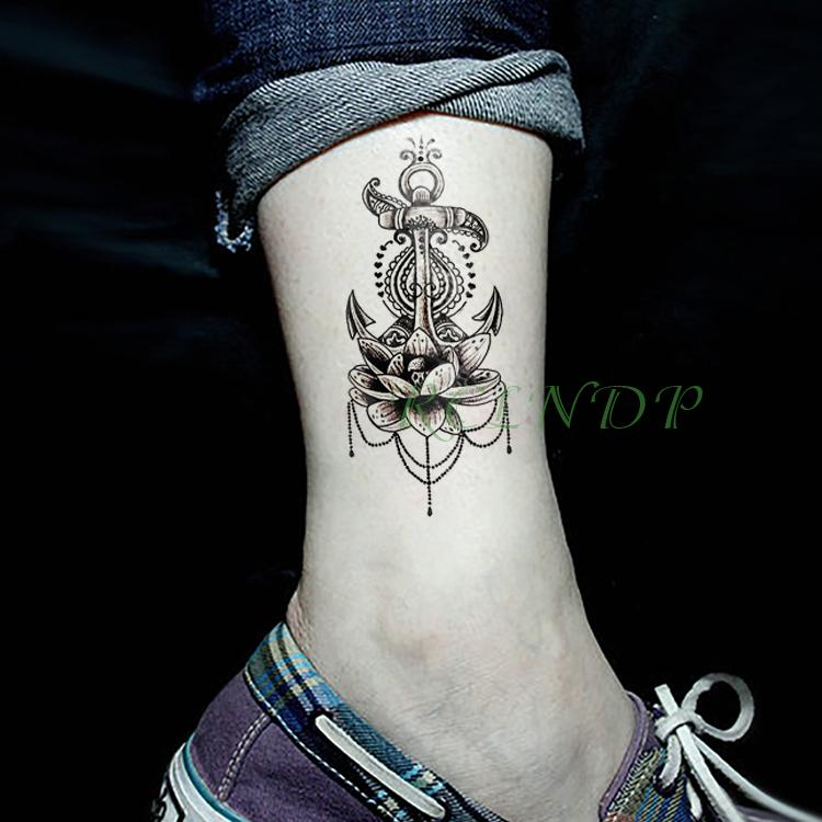 1f31bf4c4 Aterproof Temporary Tattoo Sticker Lotus Flower Fake Tatto Flash Tatoo  Tatouage Wrist Foot Hand For Girl Women Female Men Waterproof Temp... Cheap  Tattoo ...