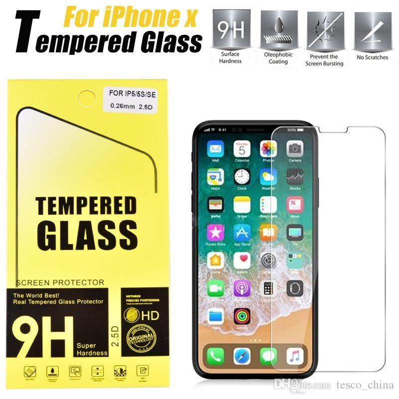 277130bb228 9H Tempered Glass For Iphone XR XS MAX X Tempered Glass Screen Protector  IPhone XS MAX XR X 8 8 Plus Iphone 6 7Plus With Retail Box Cell Phone  Protectors ...