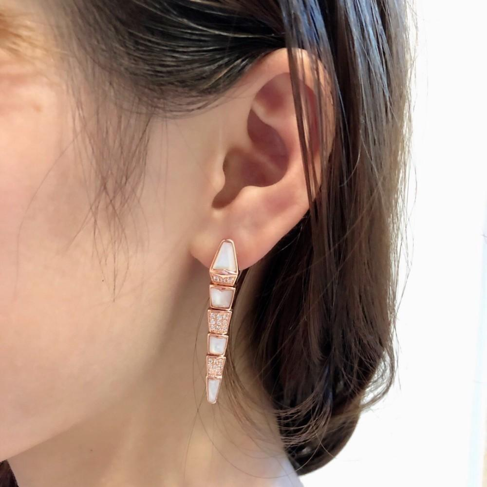 Women's jewelry 2019 fashion trend sterling silver shell snake earrings ear clipin