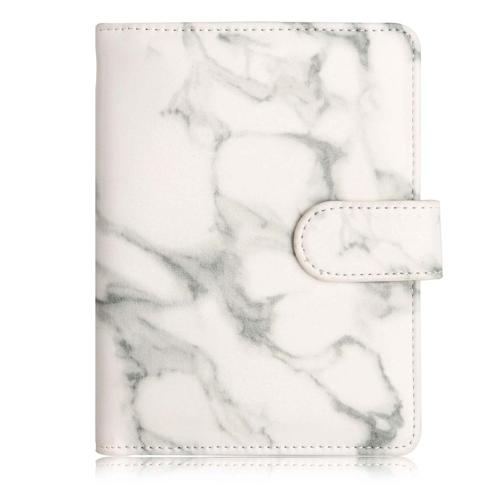 0b6b109b09e5 Marble Texture RFID Blocking Passport Holder Synthetic Leather Anti Scan  Travel Multi Function Unisex Vintage Accessories Buckle