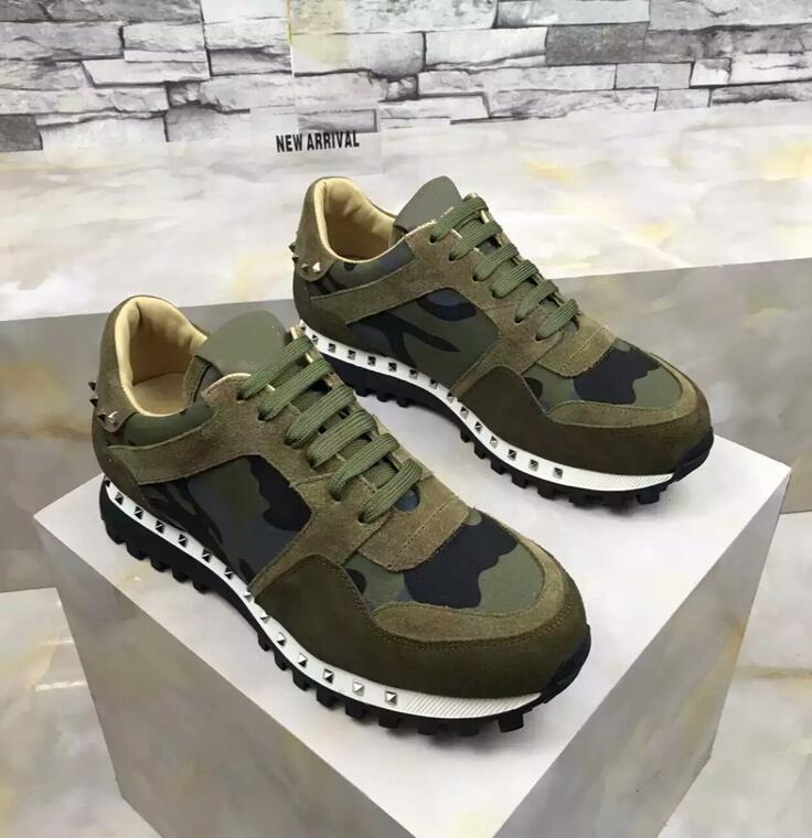 2019 NEW High Quality Runner Studded Sneaker Shoes zs01 Women,Mens Rockrunner Perfect Gift Trainers Casual Walking Flats Size 36-46