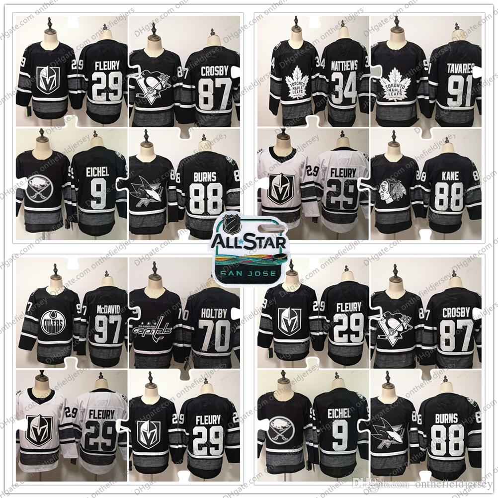 9cb454660 2019 NHL All-Star Game Ice Hockey Jersey 34 Auston Matthews 87 ...