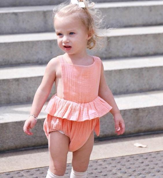 fc7754112068 2019 Baby Bandage Backless Ruffle Rompers Summer 2019 Kids Boutique  Clothing Euro America Infant Toddlers Solid Color Suspender Onesies From  Jaderabbit
