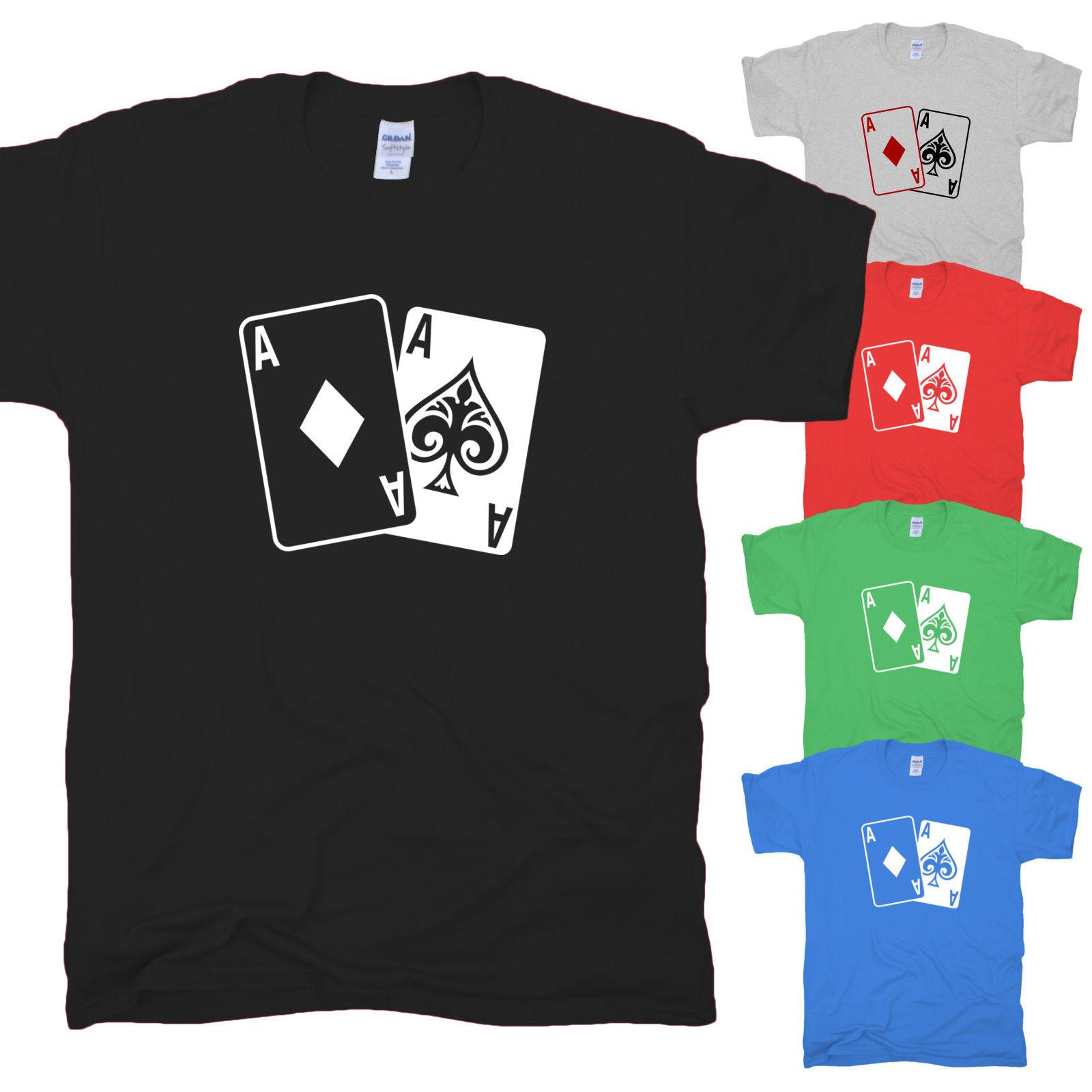 218f30eec Poker Cards Karten Ass All In Texas Hold Em Ace Spades Game Vegas T Shirt S  XXL Original T Shirts T Shirts With Sayings From Excellent82, $11.48|  DHgate.Com