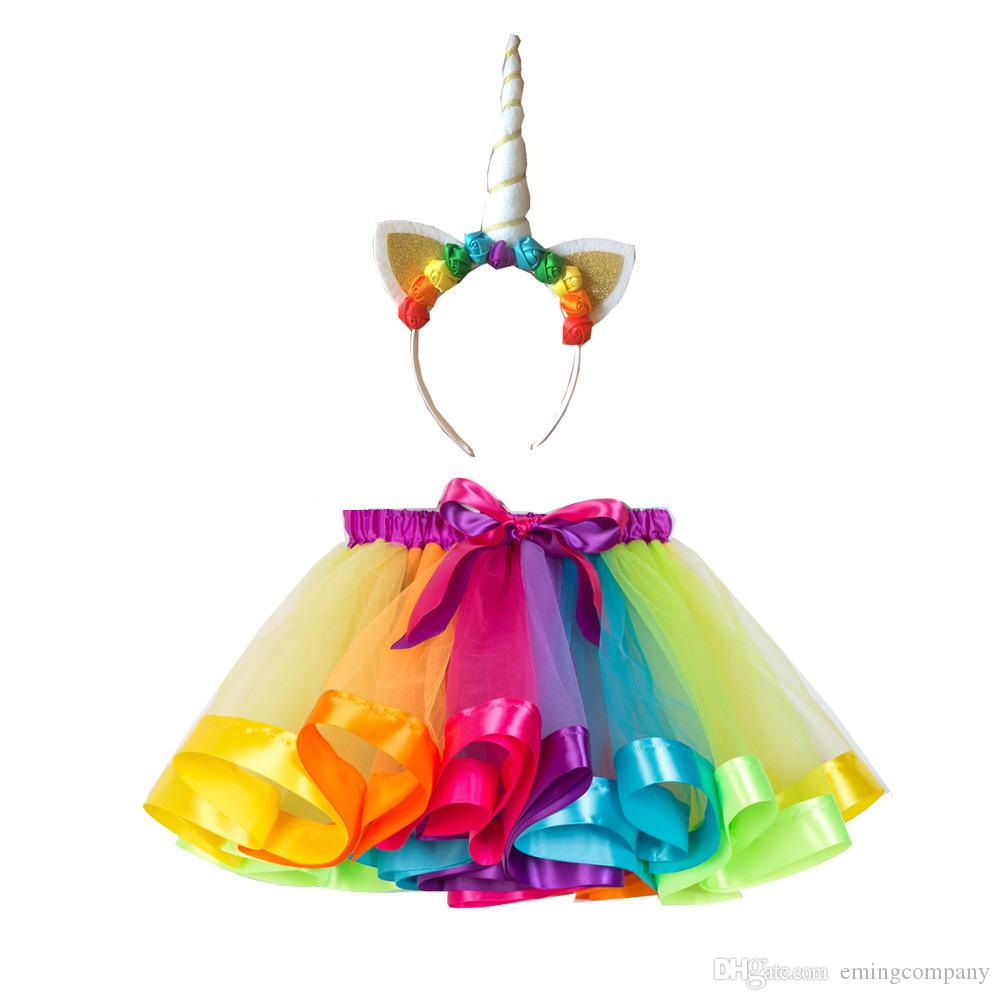 Kids Designer Clothes Girl Dress With Bowknot Designer Baby Clothing Children Toddler Infant Girls Princess Rainbow Tutu Dresses