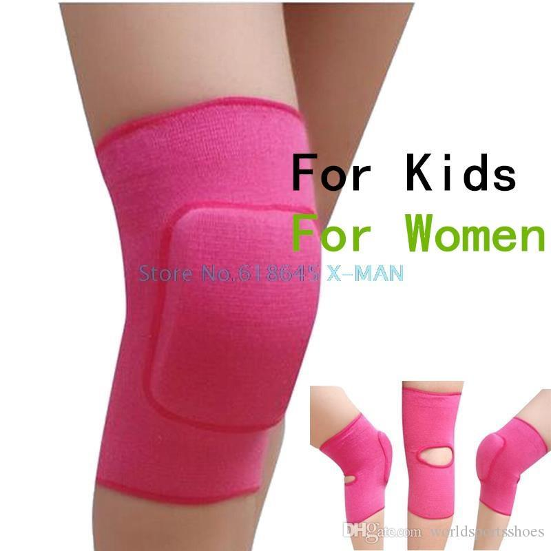 Women Knee Pads For Dance Baby Crawling Children Volleyball Tennis Basketball Knee Support Sports Gym pads 1 Pair L325 #515441